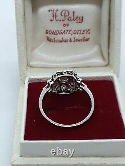 Platinum ART DECO Style Diamond Ring/PANEL RING VINTAGE