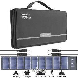 Portable Solar Panel Foldable 60w 12v 18v Battery Charger USB DC 1.3kg HYUNDAI