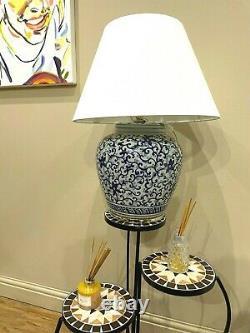 Ralph Lauren Home Floral Porcelain Ginger Jar Lamp Large Rare Hand painted MW3
