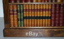 Rare Solid English Oak Radiator Cover Faux Book Bookcase Very Rare Find Must See
