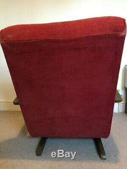 Rare Vintage c1930s Art Deco Bentwood Rocking Chair Banana Halabala Style