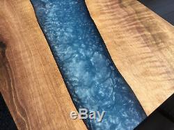 River table, Epoxy river table, Epoxy river wall art, Glow in the dark art