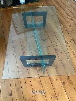 Roche Bobois Glass Coffee Table With Wood Inserts Excellent Condition