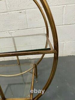 Rockett St George Circular Art Deco 3-Tier Drinks Trolley RSG 1078- RRP £250