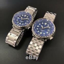 STEELDIVE Marine Master Sunray Blue Tuna NH35 Diver 300M Automatic Watch BGW9/C3