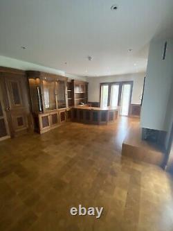STUNNING Luxury Study Oak & Walnut By Harrison Collier Bespoke Furniture RRP£28K