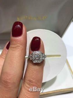 Sale Clearance Ring Art Deco Ring Style 18ct White Gold Diamond Ring Goy653