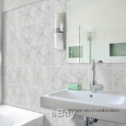 Self Adhesive Wall Sticker 10 Pcs Vinyl Square Tile Floor Kitchen Bath Art DIY E