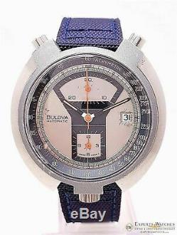 Serviced BULOVA BULLHEAD Parking Meter Chronograph Automatic Cal 12 1973 Watch
