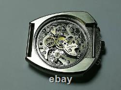 Serviced Vintage 1970's Lemania Bull Head Chronograph 872 Omega 930 Watch CPO