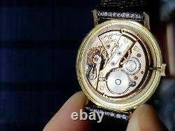 Serviced Vintage OMEGA Solid D&A Gold 14k 1958 Cal 520 Watch S-6586 Split Case