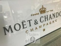 Small White 3D Moet and Chandon mirrored Picture, Picture with 3d Sparkle Detail