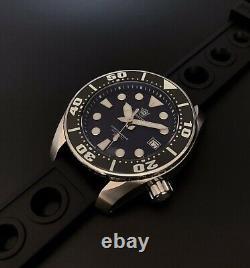 Steeldive Black Sumo SBDC Seiko NH35 Diver 200M Auto Watch 42.5mm BGW9 Lume