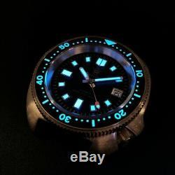 Steeldive CUSN8 Bronze Turtle 6105 NH35 200M Automatic Watch Sapphire 44mm BGW9