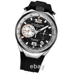 Stuhrling 894.02 VK Men's Japan Chronograph Rubber Strap Bullhorn Pusher Watch