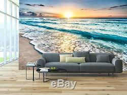 Sunrise over beach 3D Mural Photo Wallpaper Decor Large Paper Wall
