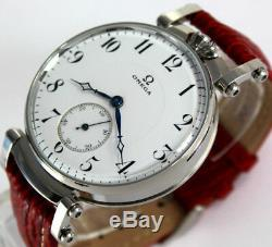 Superb OMEGA swiss Jumbo Art Deco Style mariage ARMBANDUHR Wrist Watch aus 30er