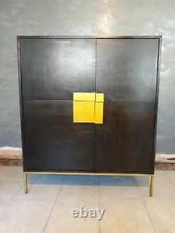 Swoon Banner Cabine /Drinks Cabinet In Stained Mango Wood RRP £599 Deco Modern