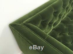 Swoon Vincent 2 Seater Sofa Fern Green Deep Velvet Swoon Editions £1599