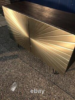 Swoon Ziggy Sideboard, Brass RRP £699.00 Free Delivery Gold