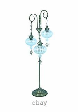 TURKISH LAMP, floor standing bedside stained glass Moroccan lamp, floor lamp
