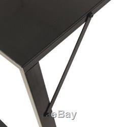 Tempered Glass Computer Desk Office Study Desk PC Laptop Table Workstation UK