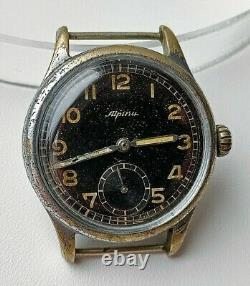 ULTRA Rare 1940`s WW2 German Air Force-issue D Alpina 592 Vintage Gents Watch