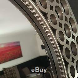 Unique Large Silver Effect Round Mirror Art Deco home decor gift new design hot