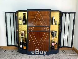 Upcycled Furniture Art Deco Cocktail Bar Drinks Cabinet Gin Bar Bureau