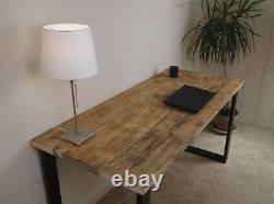 Upcycled Scaffolding Board Dining Table with industrial Steel Frame Legs