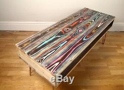 Upcycled reclaimed Wood pallet coffee table with industrial hairpin legs