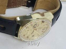 VINTAGE 1972 OMEGA SEAMASTER 176.007 Cal 1040 Chronograph GOLD Fill JEDI Watch