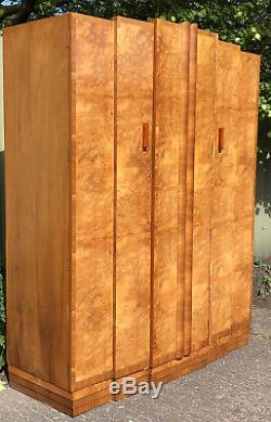 Very Rare Art Deco Walnut 5 Piece Bedroom Set Amazing Veneers We Deliver