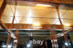 Very Rare Stunning Full Sized Walnut Victorian Drinks Cabinet + Internal Light