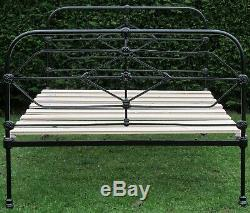 Victorian Cast Iron Standard Double Bed with Pine Base