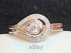 Vintage 10k Gold Diamond Ring Engagement Art Deco Style Appraisal Signed Ksj