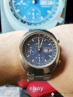 Vintage 1970's Bucherer 7000 Incabloc Chronograph Day Date Valjoux 7750 Watch