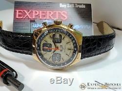 Vintage 1970s Heuer Chronograph Watch Valujoux 7765 1589 1611 1614 13-1 Box