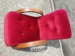 Vintage Art Deco Oak Framed Halabala Style Armchair Delivery Available