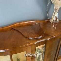 Vintage China Cabinet Glazed Cupboard Storage Drinks Cabinet Cocktail Home Bar