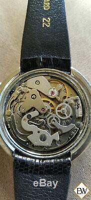 Vintage Codhor 60's Valjoux 7734 Chronograph Watch Date Regatta style NOS Racing