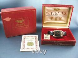 Vintage Longines Wittnauer 14k Solid Gold Mens Watch in Box 17J 10E 1950