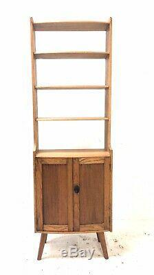 Vintage Mid Century 1950s Elm Ercol Style Bookcase Rustic Giraffe Sideboard
