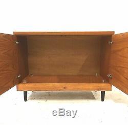 Vintage Retro Mid Century 1960s WHITE & NEWTON Compact Teak Sideboard LP Cabinet
