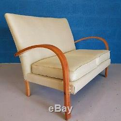 Vintage Retro Mid Century Art Deco Sofa / Studio Couch 1930s 1940s
