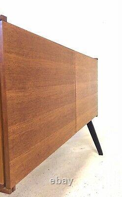 Vintage Retro Mid Century Danish 1960s Teak Modernist Sideboard Vinyl LP Cabinet
