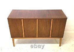 Vintage Retro Mid Century Danish Era 1960s Compact Teak Sideboard LP Cabinet (a)