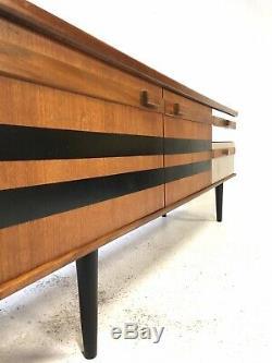 Vintage Retro Mid Century Danish Era 1960s Modernist 6ft Teak Sideboard Cabinet