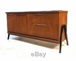 Vintage Retro Mid Century Danish Era 1960s Modernist Teak Sideboard Cabinet