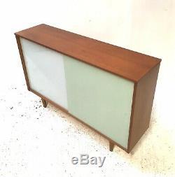 Vintage Retro Mid Century Danish Era Heals 1960s Slide Door Teak Sideboard (a)